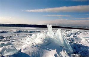 Лёд на Байкале