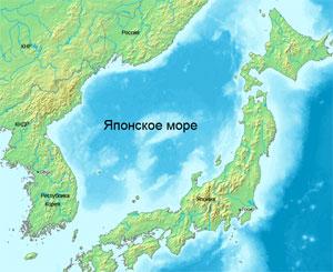 Карта Японского моря