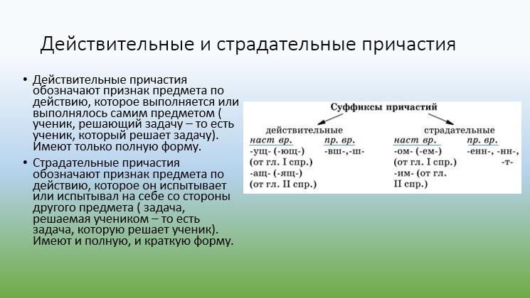 Деепричастия и причастия реферат 8979